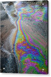 Oil Slick On Water Acrylic Print