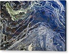 Oil Spill Abstract Acrylic Print by Dancasan Photography