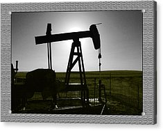 Acrylic Print featuring the photograph Oil Well by Thomas Bomstad