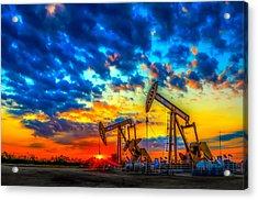 Oilfield Color Burst Acrylic Print