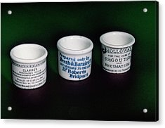 Ointment Pots Acrylic Print by Science Photo Library