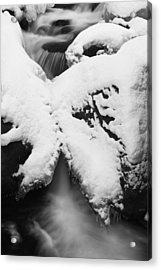 Acrylic Print featuring the photograph Oirase Gorge Stream In Winter by Brad Brizek
