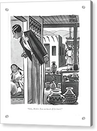 O.k., Mother. You Can Knock Off For Lunch Acrylic Print by Peter Arno