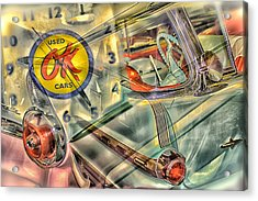 Ok Used Cars Acrylic Print by Jeanne Hoadley