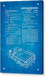 Okada Nintendo Gameboy Patent Art 1993 Blueprint Acrylic Print by Ian Monk