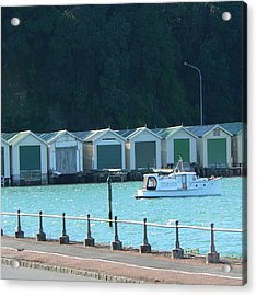 Okahu Bay Historic Boat Sheds Auckland Acrylic Print