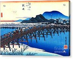 Okazaki Station Tokaido Road 1833 Acrylic Print by Padre Art