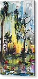 Okefenokee Forever Wetland Sunset Acrylic Print
