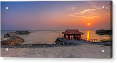 Okinawa Sunset In Yomitan Acrylic Print by Chris Rose