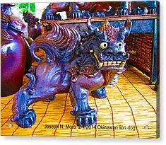 Okinawan Lion Dogs Acrylic Print