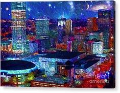 Oklahoma City Starry Night Acrylic Print