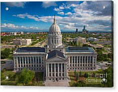Oklahoma City State Capitol Building B Acrylic Print by Cooper Ross