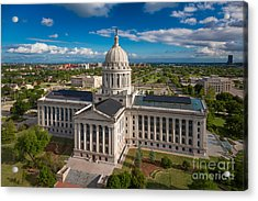Oklahoma City State Capitol Building C Acrylic Print by Cooper Ross