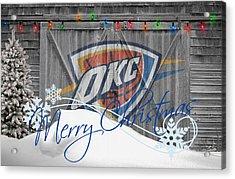 Oklahoma City Thunder Acrylic Print by Joe Hamilton