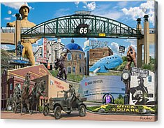 Oklahoma Collage Acrylic Print by Roberta Peake