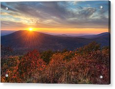 Acrylic Print featuring the photograph Oklahoma Mountain Sunset - Talimena Scenic Byway by Gregory Ballos