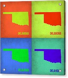 Oklahoma Pop Art Map 1 Acrylic Print by Naxart Studio