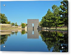 Oklahoma Reflections Acrylic Print by Paul Van Baardwijk