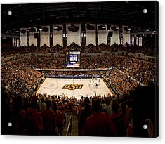 Oklahoma State Cowboys Gallagher-iba Arena Acrylic Print by Replay Photos