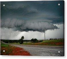 Oklahoma Wall Cloud Acrylic Print by Ed Sweeney
