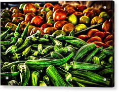 Okra And Tomatoes Acrylic Print