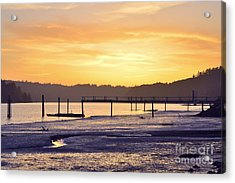Ol' Ship Dock Acrylic Print by Sheldon Blackwell