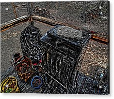 Acrylic Print featuring the digital art 'ol Smoker' by Robert Rhoads