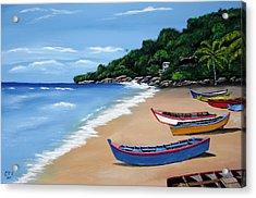 Olas De Crashboat Acrylic Print