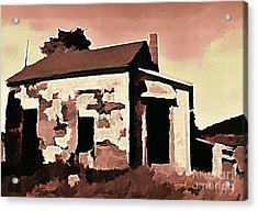 Old Abandoned House In Cape Breton Acrylic Print by John Malone
