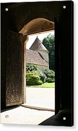 Old Abbey Church Door - Abbey Fontenay Acrylic Print by Christiane Schulze Art And Photography