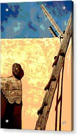 Acrylic Print featuring the photograph Old Adobe by Mary Bedy