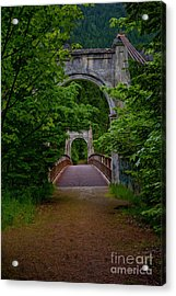 Acrylic Print featuring the photograph Old Alexandra Bridge by Rod Wiens