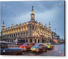 Old American Cars And The Cuban Acrylic Print by Buena Vista Images