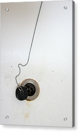 Old And Dirty Bathtub With Drain And Plug   Acrylic Print by Matthias Hauser