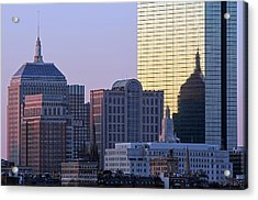 Old And New John Hancock Building Acrylic Print by Juergen Roth