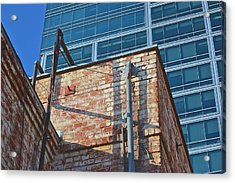 Old And New Los Angeles Acrylic Print by Bill Owen