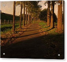 Old And New Road In Tilburg Acrylic Print by Nop Briex