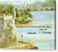 Old And New San Juan Acrylic Print by Monica Linville