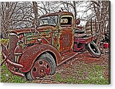 Old And Tired Acrylic Print by Pattie Calfy