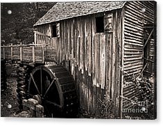 Old Appalachian Mill Acrylic Print by Paul W Faust -  Impressions of Light