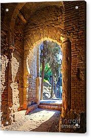 Old Archway Acrylic Print by Lutz Baar