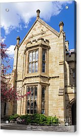 Old Arts Building - Melbourne University - Australia - Academic Tudor - Jacobethan Style Building Acrylic Print by David Hill