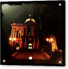 Old Auburn Courthouse Acrylic Print by Sherry Flaker
