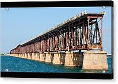 Old Bahia Honda Bridge 2 Acrylic Print