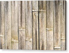 Old Bamboo Fence Acrylic Print