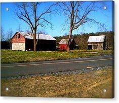 Acrylic Print featuring the photograph Old Barn by Amazing Photographs AKA Christian Wilson