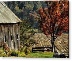 Old Barn And Field Acrylic Print