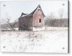 Old Barn - Brokeback Shack Acrylic Print by Gary Heller