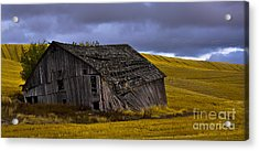 Old Barn Acrylic Print by Camille Lyver