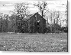 Acrylic Print featuring the photograph Old Barn by Charles Kraus
